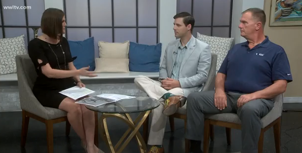 Fisher House Courage Golf Classic promotion on WWL-TV with Bobbie Ragsdale and Mike Cobb